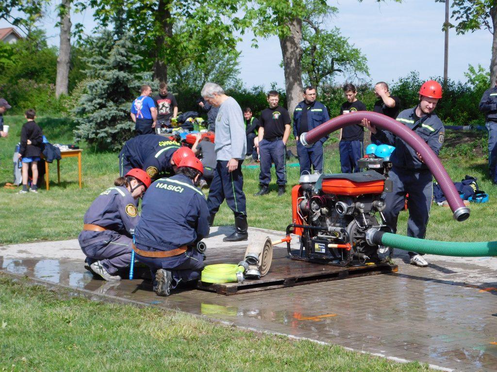 SDH Pohoří - hasičský útok