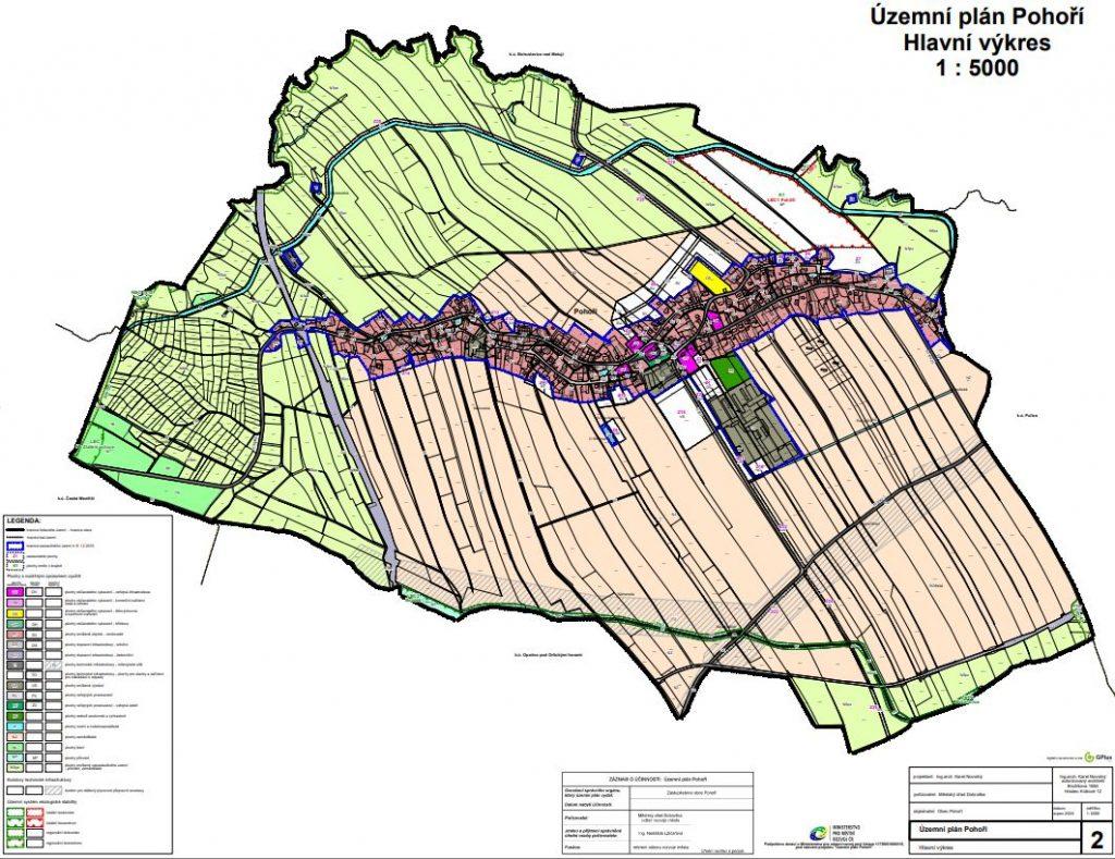 Územní plán Pohoří - náhled